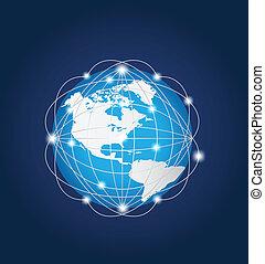 globaal net, amerika