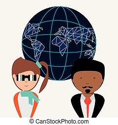 globaal, ontwerp, netwerk