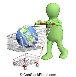 globaal, shoppen