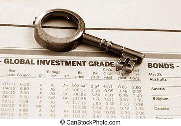 globaal, voorraadrapport, investering