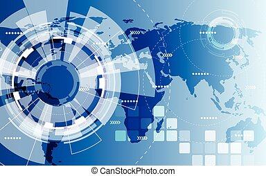 Global abstract background technology solution vector, illustration