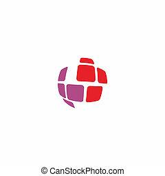 global abstract logo design