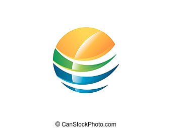 global abstract sphere element logo