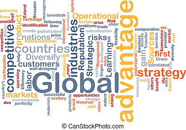 Global advantage background concept - Background concept ...