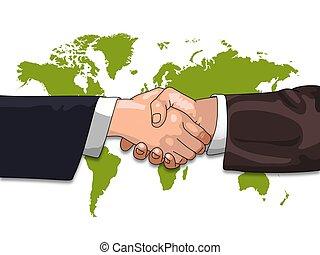 global affär, skaka