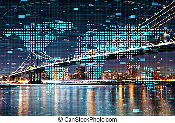 global, analytics, concept, commercer