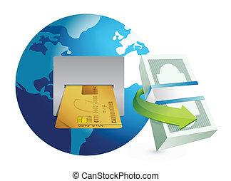 global atm illustration design graphic