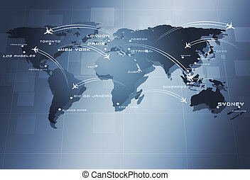 Global Aviation Business Background - aviation background...