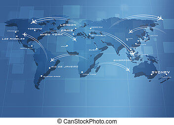 Global Aviation Map