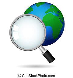global, búsqueda, concepto, vector, icono