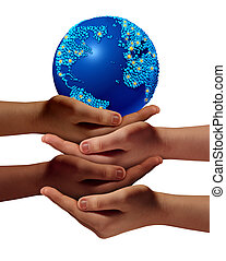 global, bildung, gemeinschaft