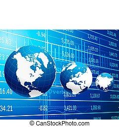 global branche, og, økonomi, abstrakt, baggrund