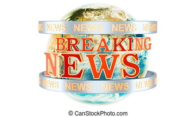 Global Breaking News animation concept, 3D rendering