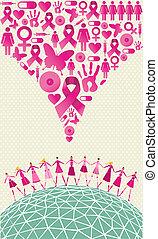 Global breast cancer awareness splash