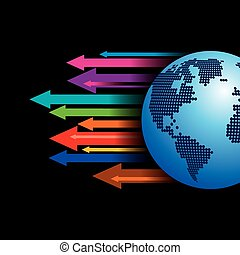 Global business arrow Vector