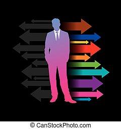 Global business arrow