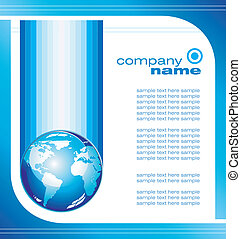 Global Business Card - Concept Business Global Company...