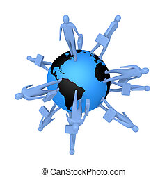 Global Business - Computer generated image - Global...