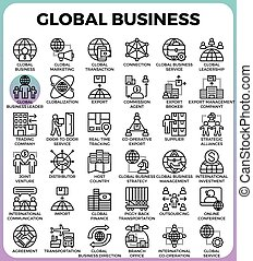 Global business concept icons - Global business concept...