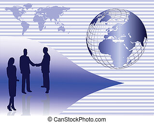 Global Business Concept Vector Illustration