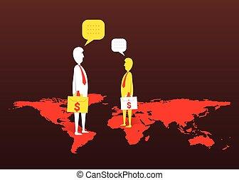 global business deal concept design