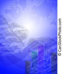Global Business - Montage representing Global Business and...
