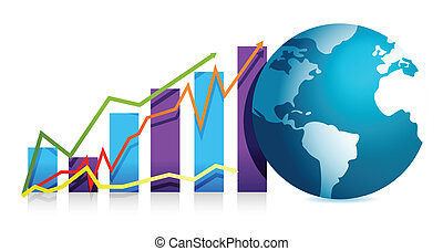 global business graph illustration design