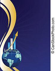 global business growth bar graph