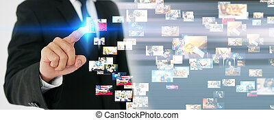 global business management concept