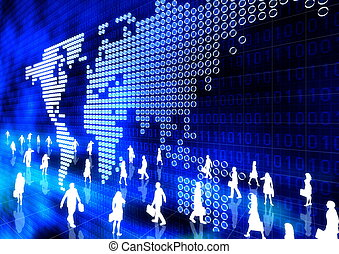 People Doing Business in Virtual Internet world