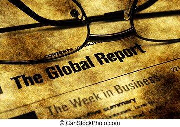 Global business report grunge concept