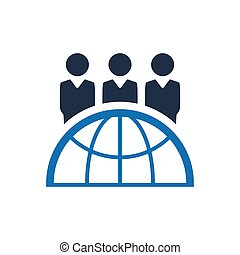 Global Business Team Icon