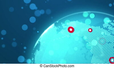 Global business technology concept. Seamless loop - Abstract...