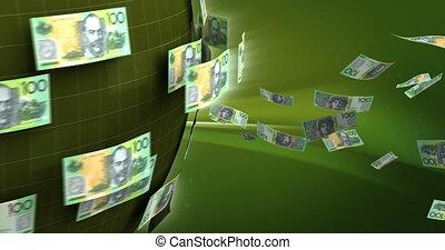 Global Business with Australian Dollar (seamless)