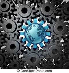 global, centro, negócio