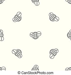 Global chat pattern seamless vector