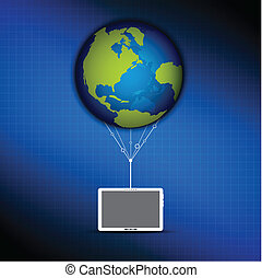 global cloud computing concept