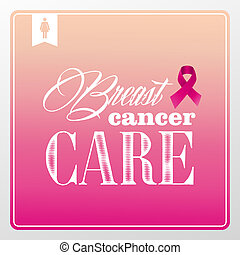 Global collaboration breast cancer awareness concept illustration. Vintage banner composition. EPS10 vector file organized in layers for easy editing.