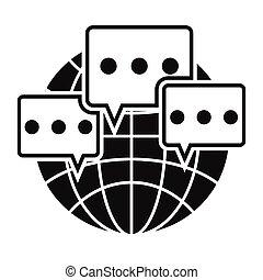 Global communication black simple icon