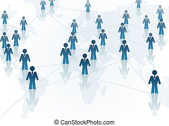 Global Communication - business concept background