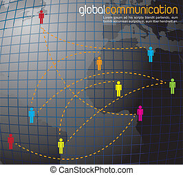 Global communication - symbol of global communication in the...
