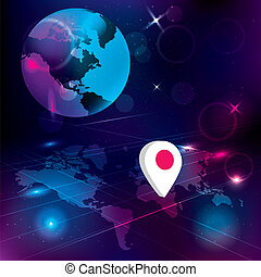 Global communication concept. Abstract technology background.