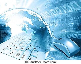 blue abstract design; internet concept