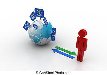 Global communication concept