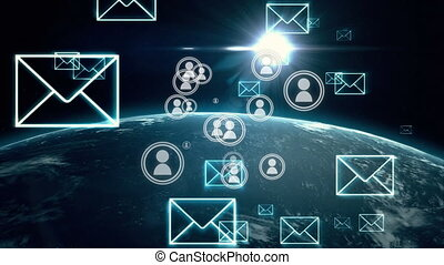 Global communication - Digital animation of envelope and ...