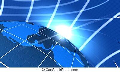 Global communication end World Illustration