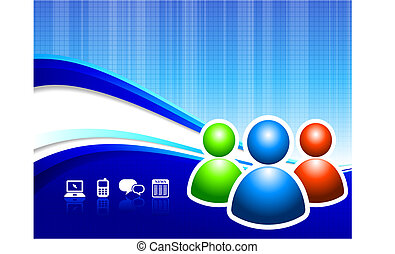 Global Communication internet background