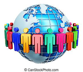 Global communication internet concept