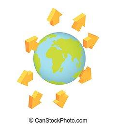 Global communication isometric 3d icon