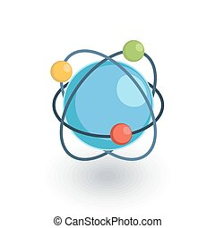 Global communication, network isometric flat icon. 3d vector